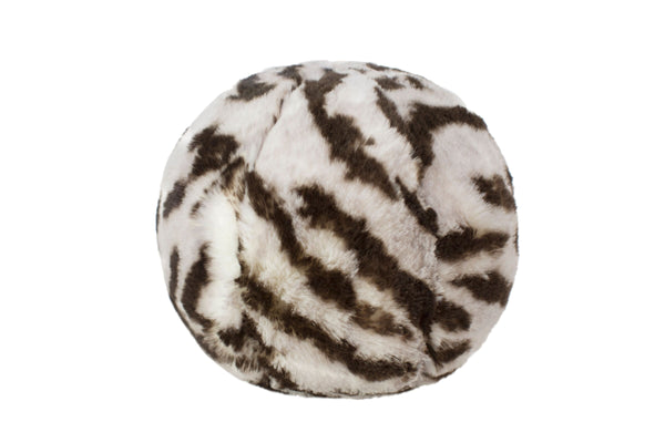 Tiger Faux Fur Snowball by Evelyne Prélonge | Fig Linens and Home