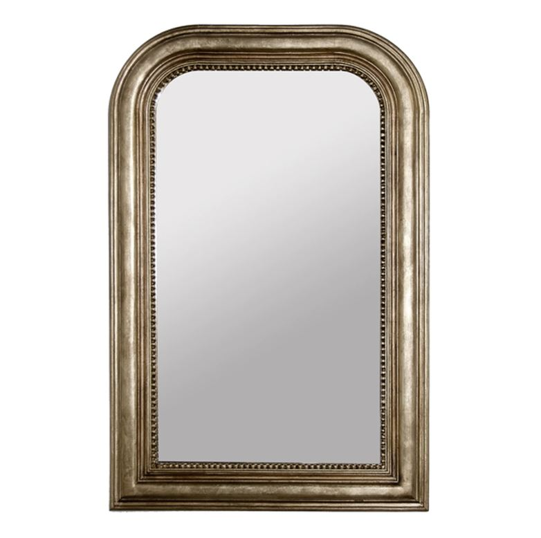 Wavery Silver Wall Mirror by Worlds Away