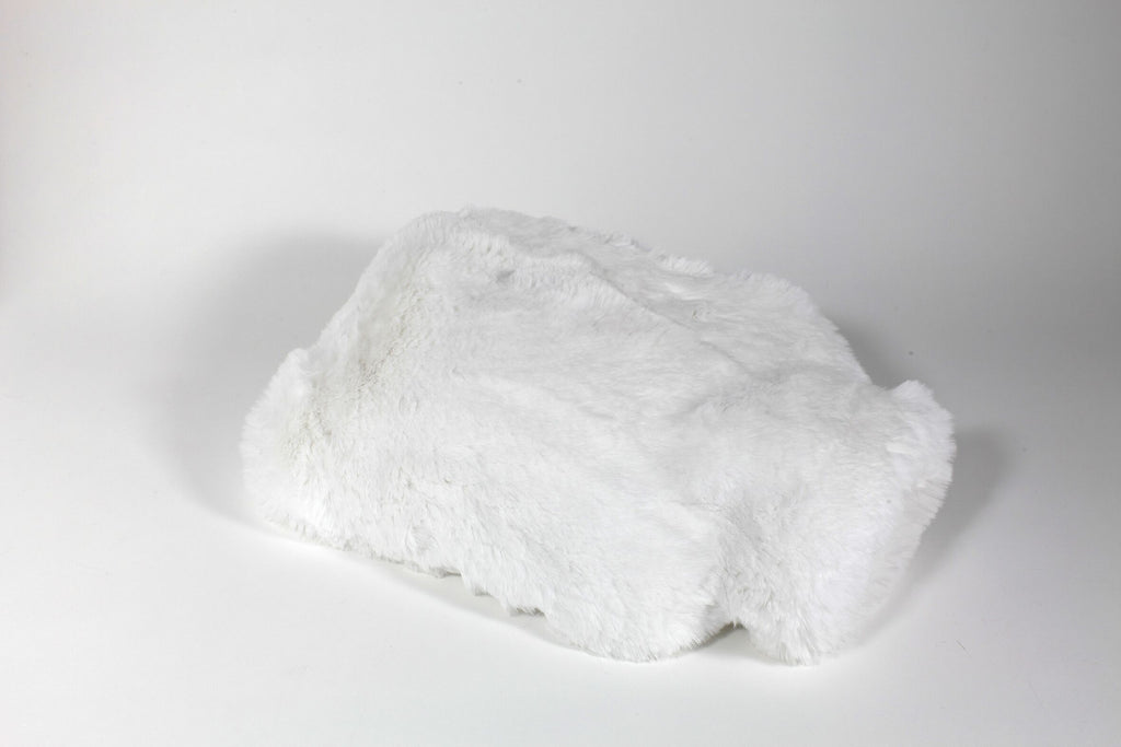 White Faux Fur Hot Water Bottle by Evelyne Prélonge | Fig Linens