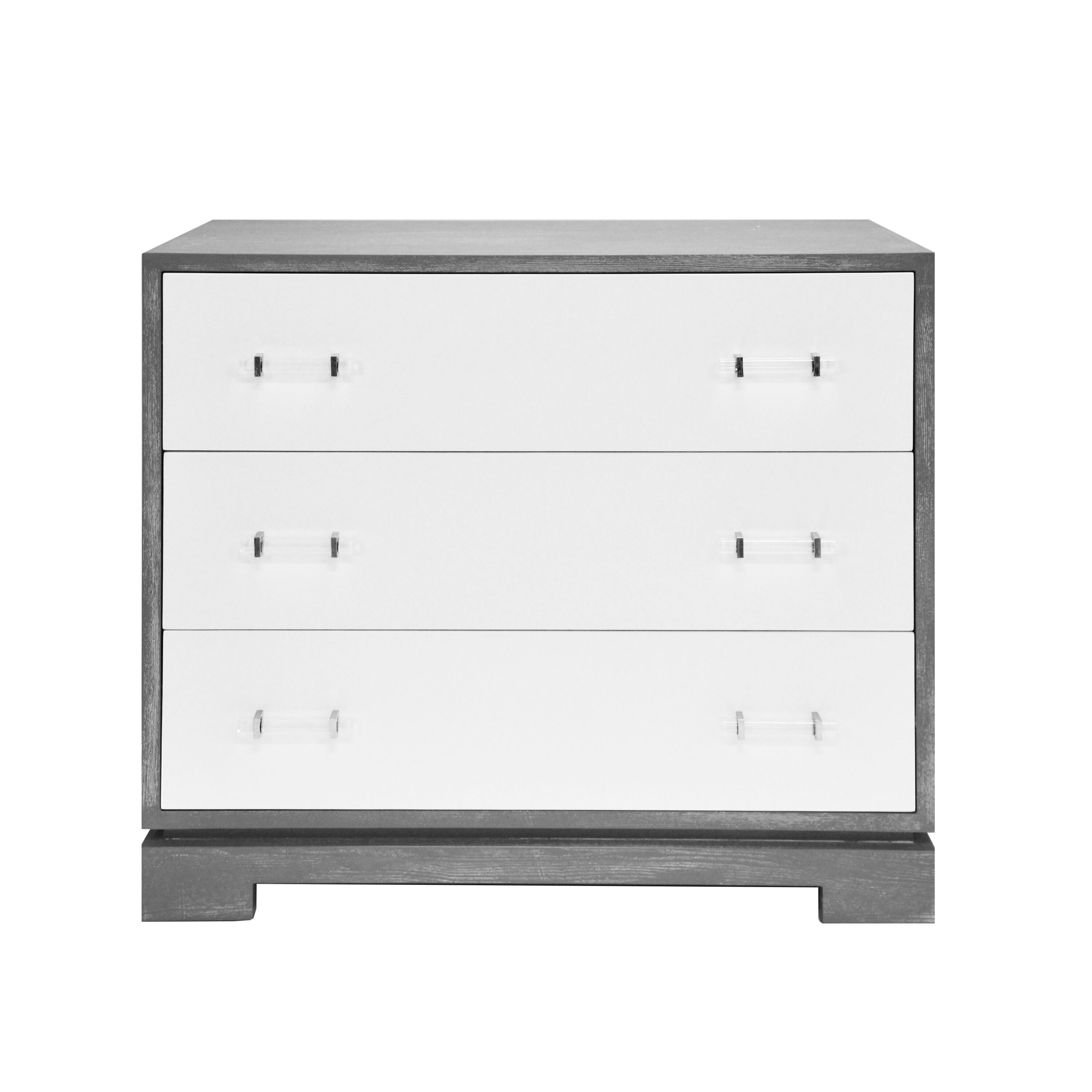 Whitney Grey Drawer Chest by Worlds Away