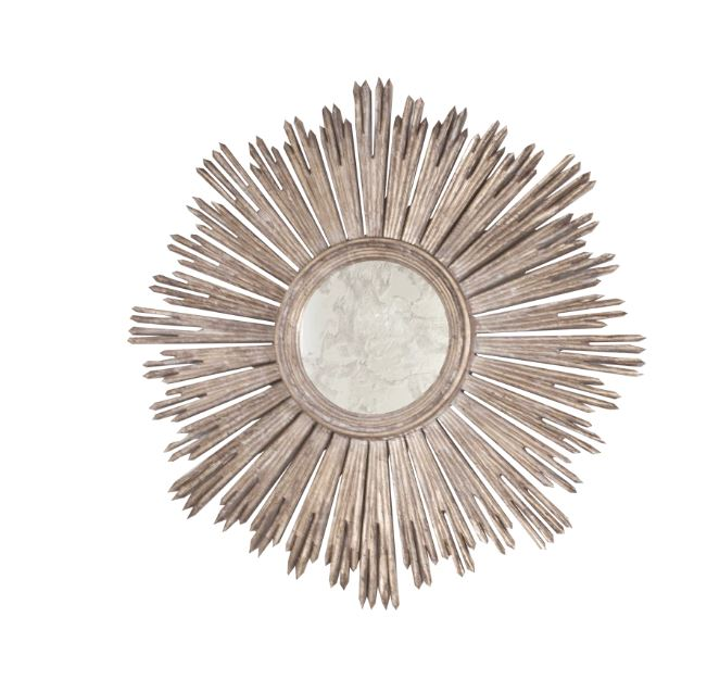Margeaux Silver Starburst Mirror by Worlds Away | Fig Linens and Home