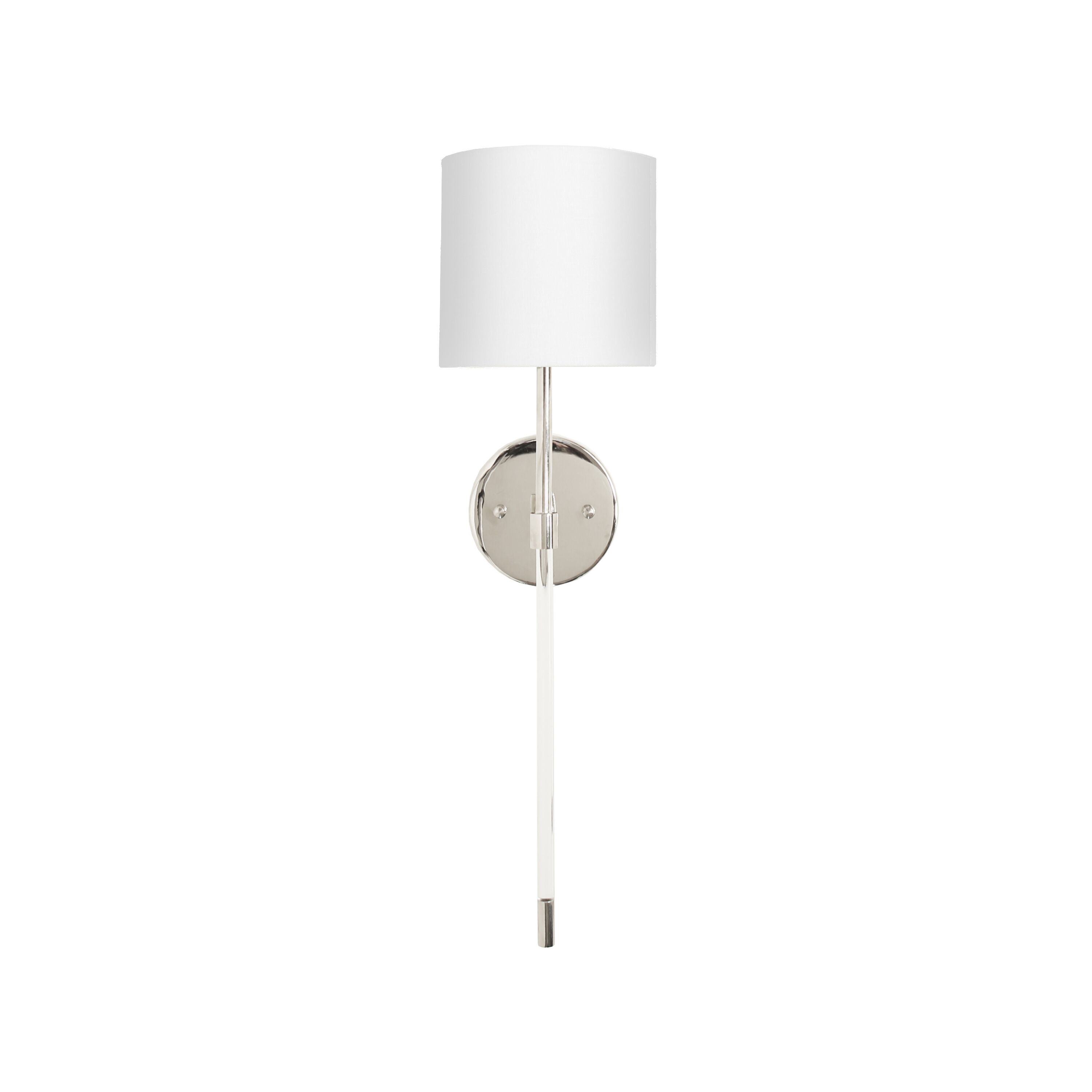 Bristow Acrylic & Nickel Sconce by Worlds Away