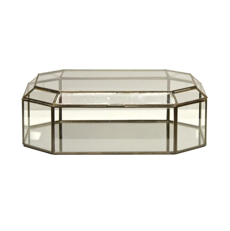 Octagonal Glass Decorative Box by Worlds Away | Fig Linens and Home