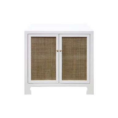 Alden White Cabinet by Worlds Away | Fig Linens and Home