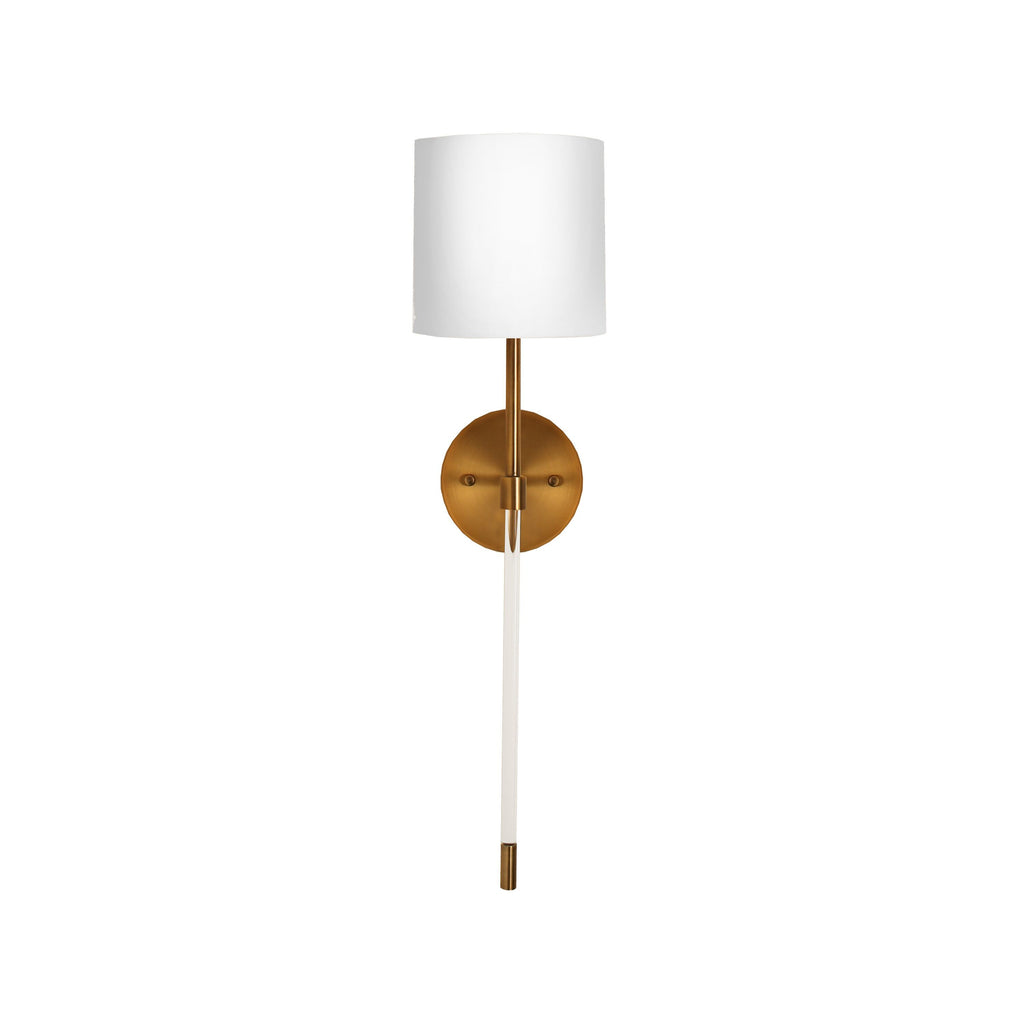 Bristow Acrylic & Brass Wall Sconce by Worlds Away | Fig Linens