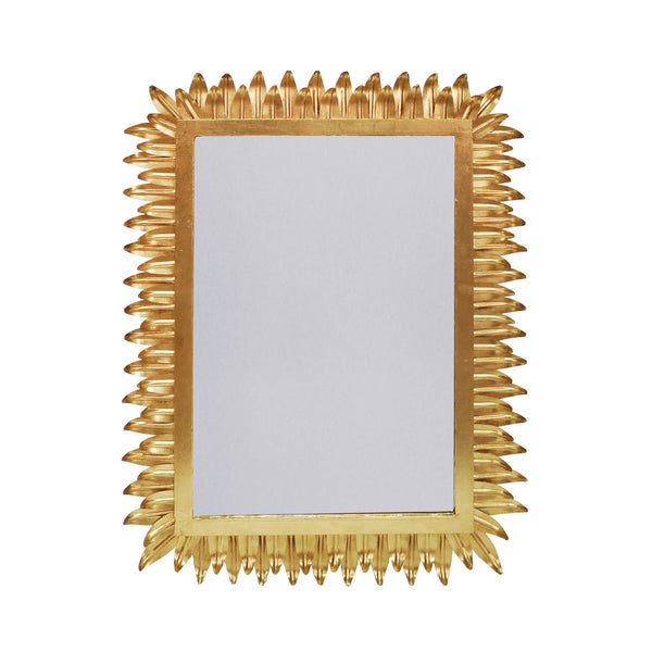 Caesar Gold Wall Mirror by Worlds Away | Fig Linens and Home