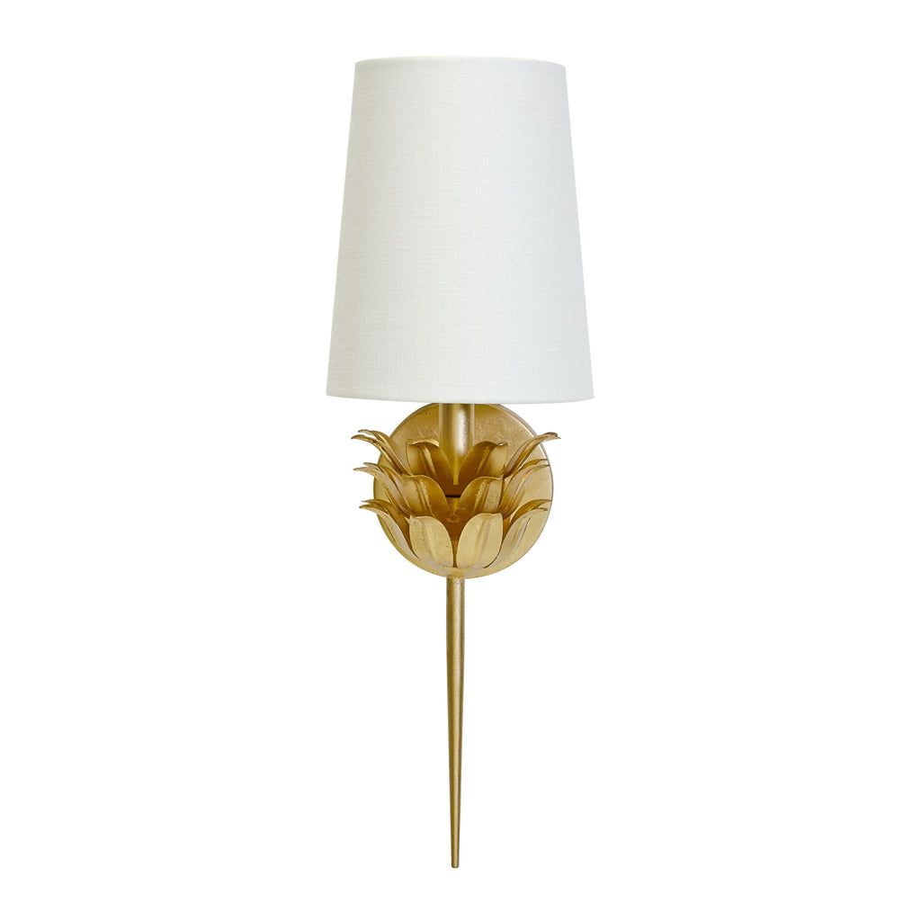 Delilah Gold Wall Sconce by Worlds Away | Fig Linens and Home