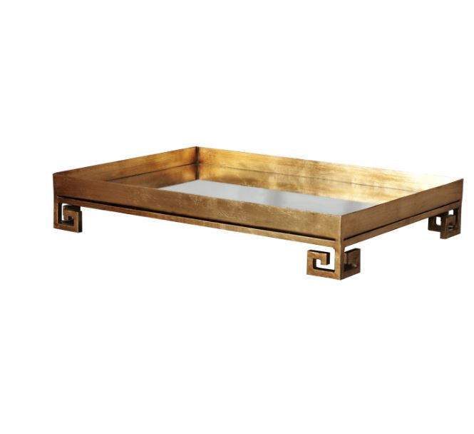 Julian Gold Tray by Worlds Away | Fig Linens and Home
