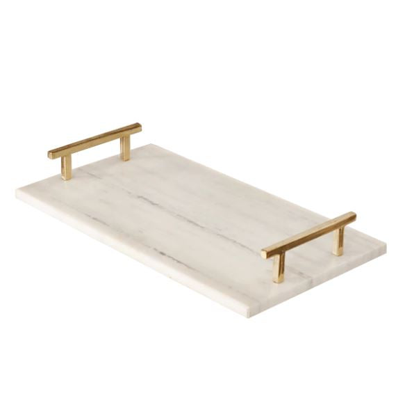 Lincoln Marble Tray by Worlds Away