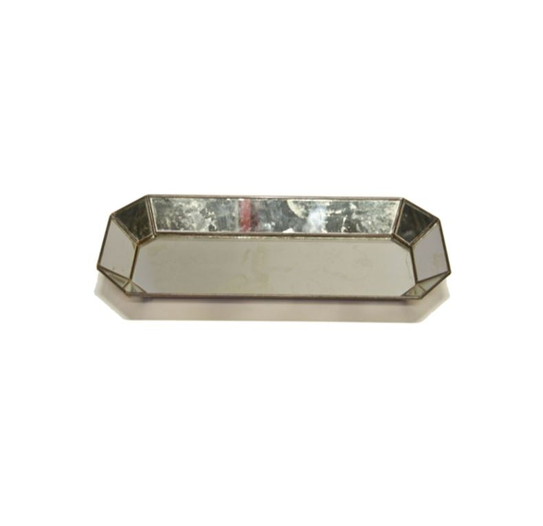 Octagonal Antique Mirror Tray by Worlds Away