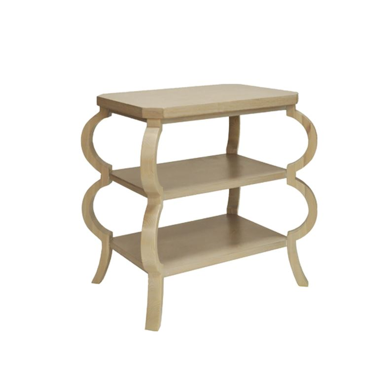 Cerused Oak 3 Tier Side Table by Worlds Away | Fig Linens and Home