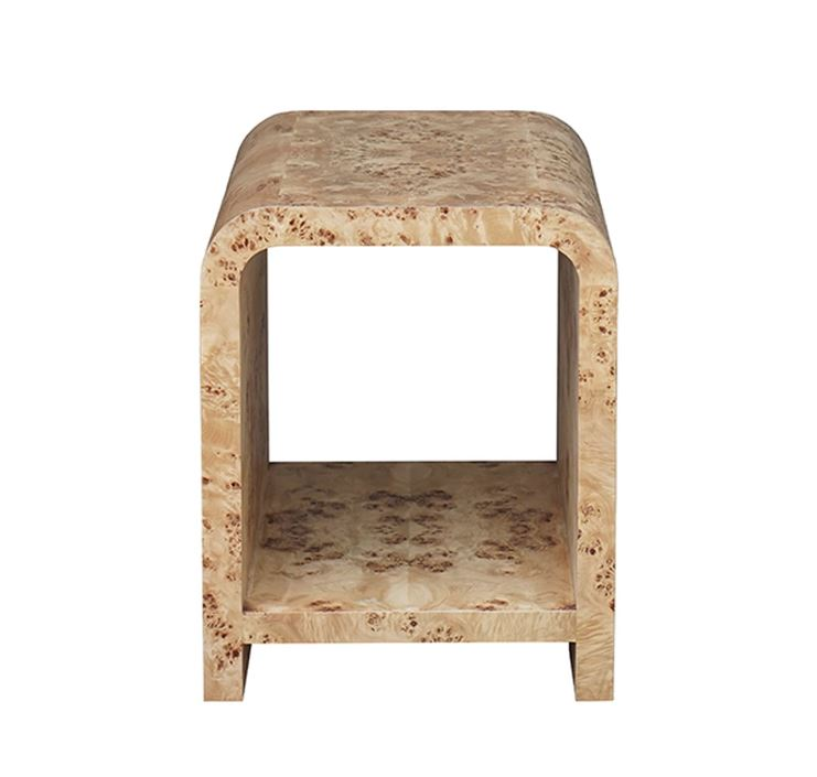 Burl Wood Side Table by Worlds Away | Fig Linens and Home