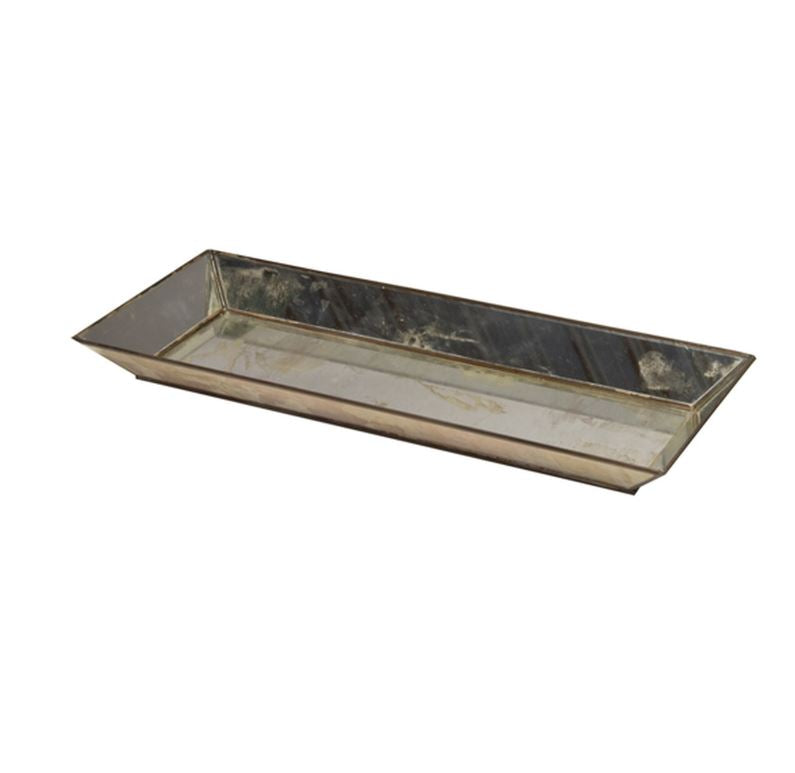 Rectangular Antique Mirror Tray by Worlds Away