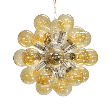 Nickel & Glass Globe Chandelier by Worlds Away | Fig Linens and Home