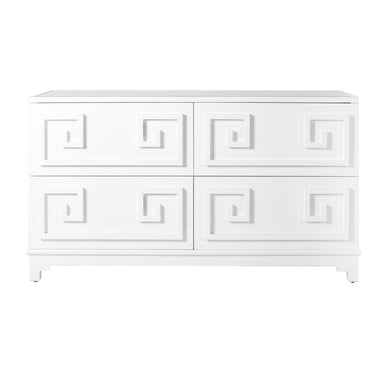 Werstler White Drawer Chest by Worlds Away | Fig Linens