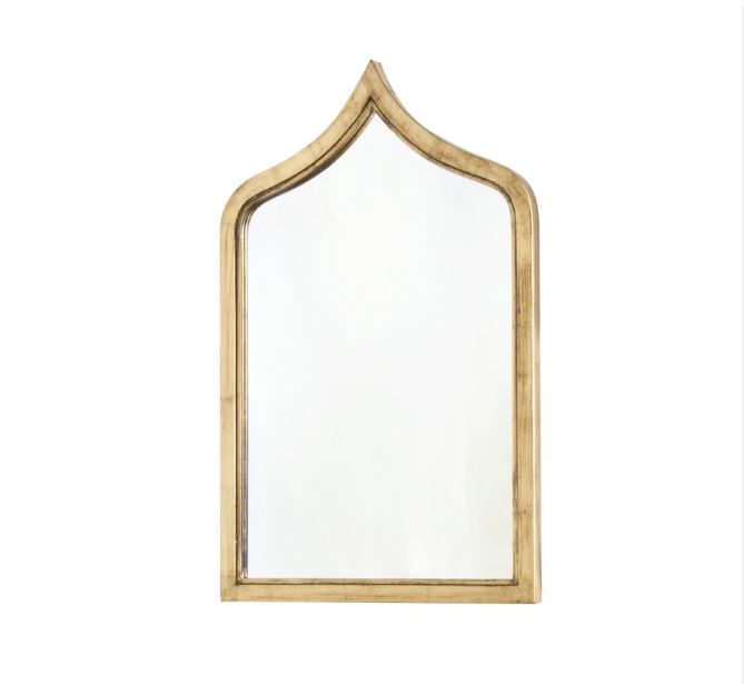Zanzibar Gold Leaf Wall Mirror by Worlds Away | Fig Linens and Home