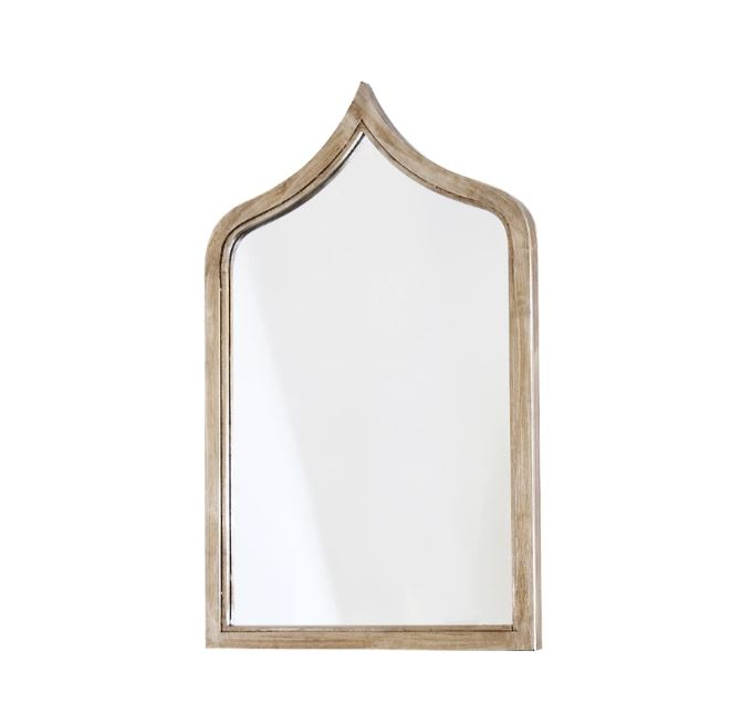 Zanzibar Silver Leaf Wall Mirror by Worlds Away | Fig Linens and Home
