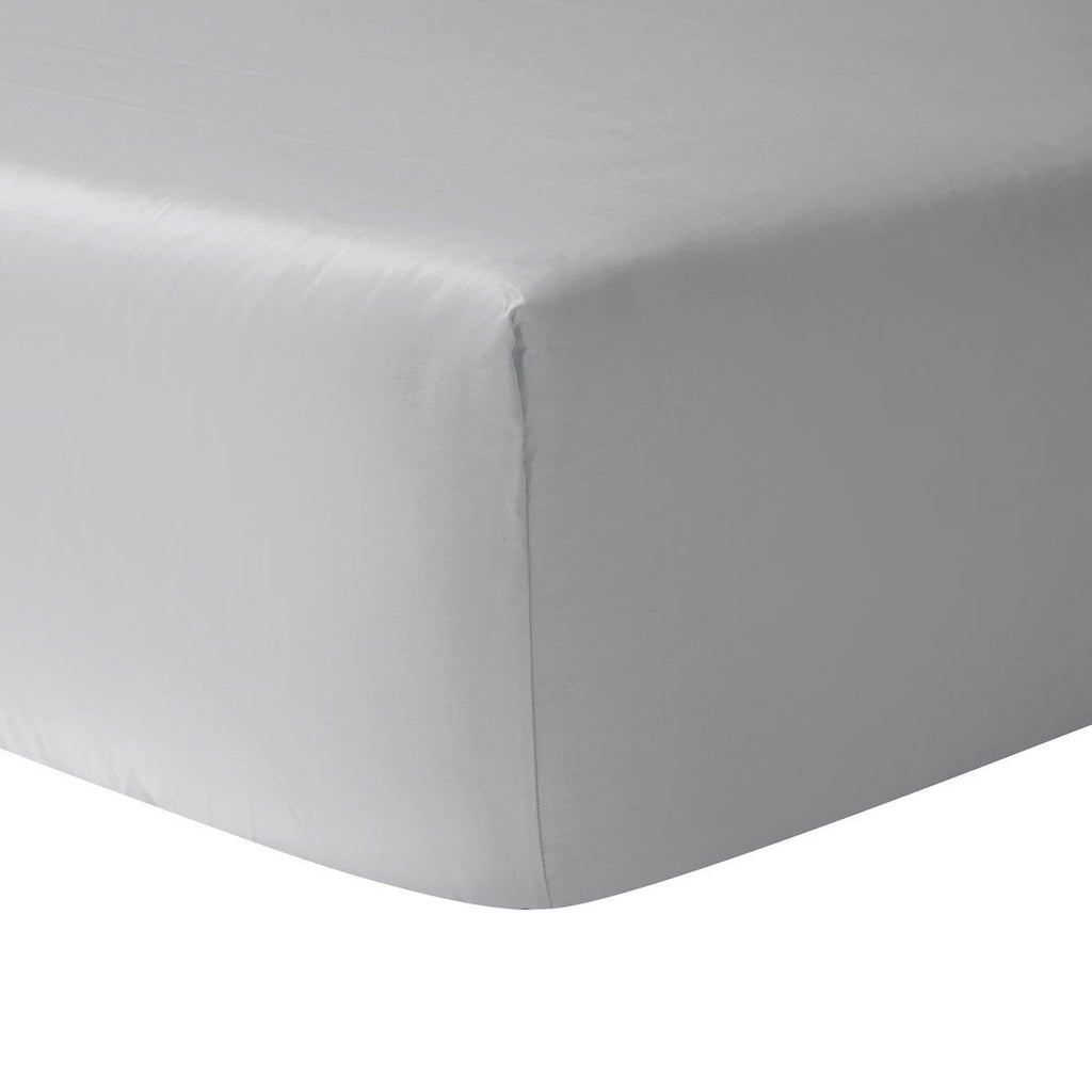 fig linens - yves delorme triomphe silver fitted sheet