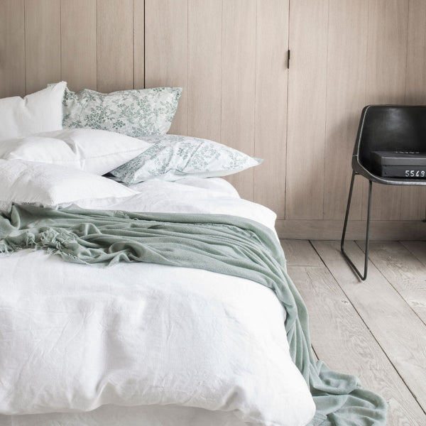 Nouvelle Vague White Bedding by Alexandre Turpault | Fig Linens