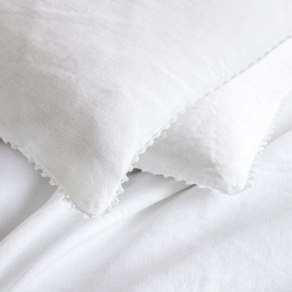 Fig Linens - Alexandre Turpault Bedding - Nouvelle Vague White Linen Bedding