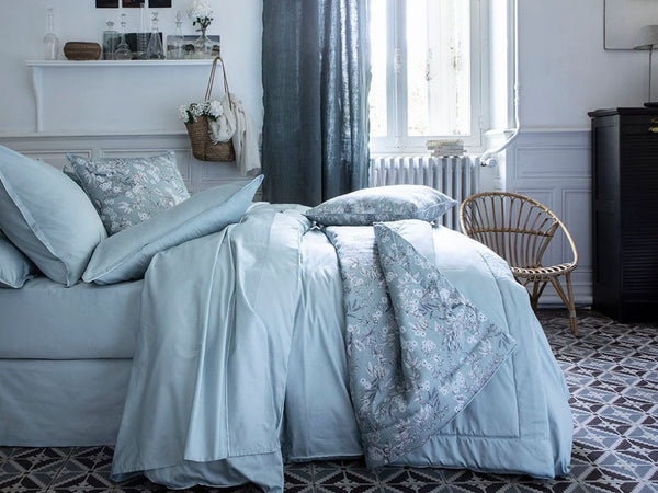 Teo Baltic Blue Bedding by Alexandre Turpault | Fig Linens and Home
