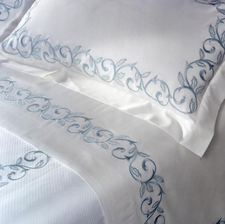 Marina Embroidery Bedding by Dea Fine Linens | Fig Linens and Home