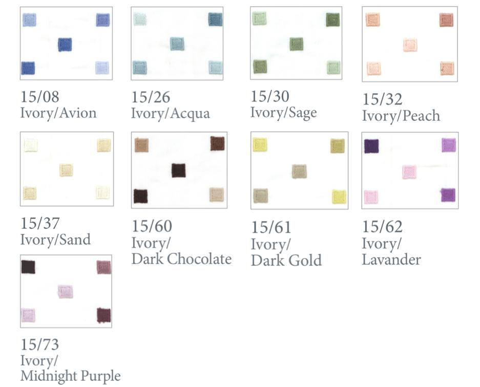 Fig Linens - Dea Fine Linens - Minerva Bedding- color swatch