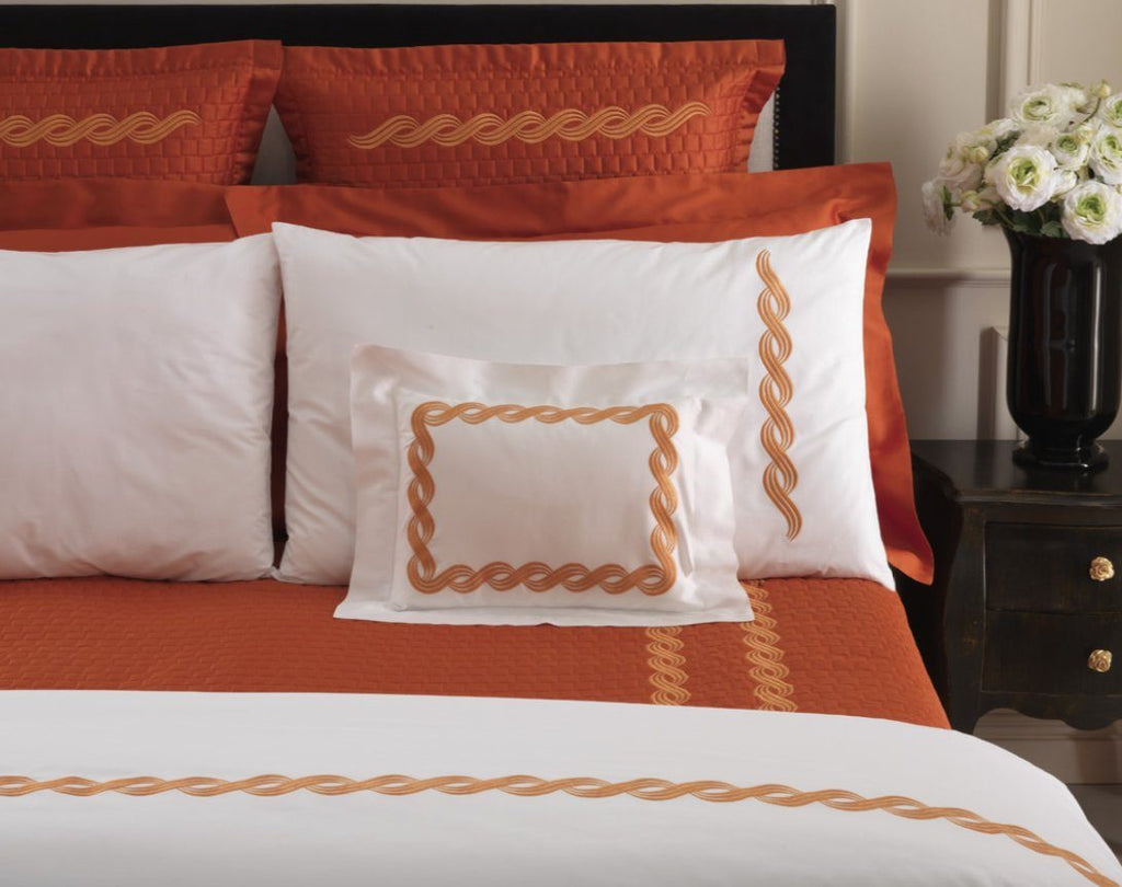 Monica Embroidery Bedding by Dea Linens | Fig Linens and Home