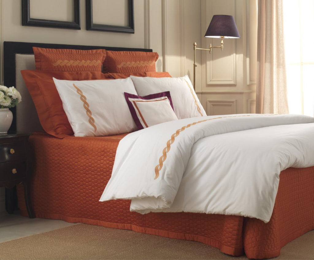 Fig Linens - Monica Embroidery Bedding by Dea Linens