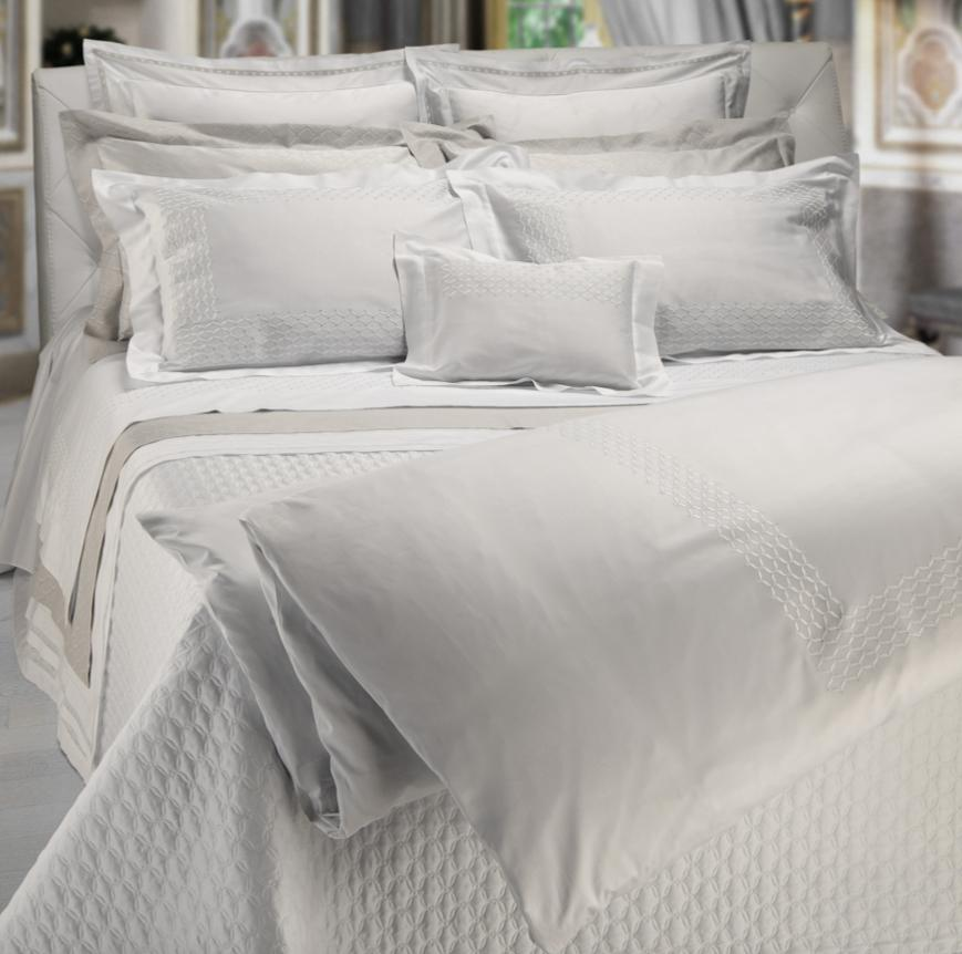 Novella Embroidery Bedding by Dea Fine Linens | Fig Linens