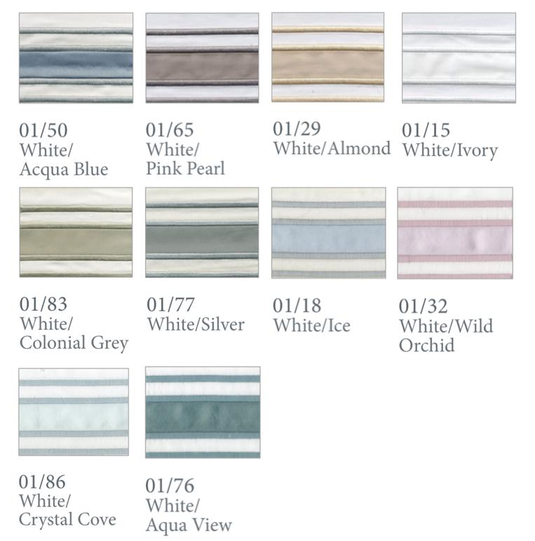 Fig Linens - Parallele Bedding by Dea Linens - Thread colors