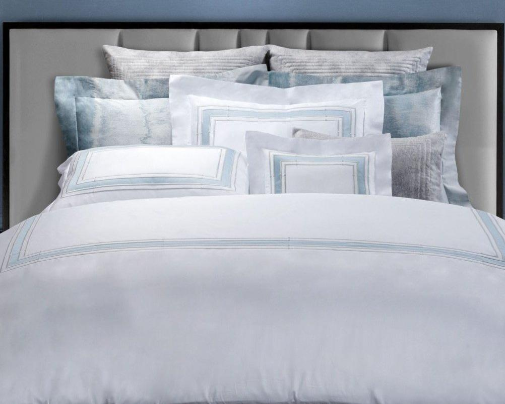 Parallele Embroidery Bedding by Dea Linens | Fig Linens and Home