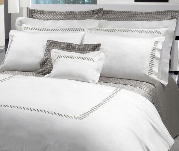 Patrick Embroidery Bedding by Dea Linens | Fig Linens and Home
