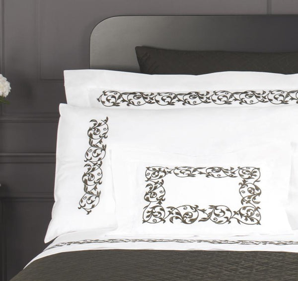 Ramages Embroidery Bedding by Dea Linens | Fig Linens and Home