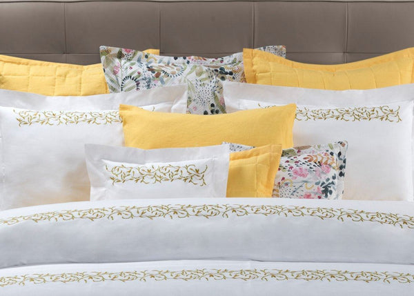 Selvaggia Embroidery Bedding by Dea Linens | Fig Linens and Home