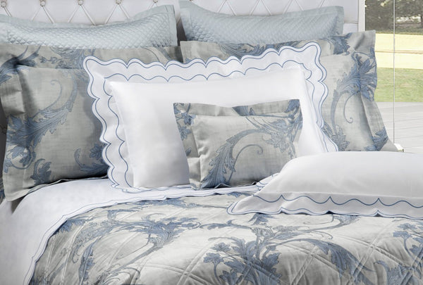 St. Malò Embroidery Bedding by Dea Fine Linens | Fig Linens