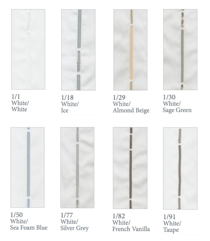 Fig Linens - Dea Linens -Strie Bedding - Thread Colors