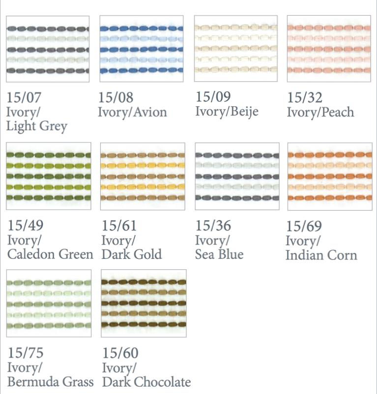 Fig Linens - Dea Fine Linens - Urban Bedding  - Thread Colors