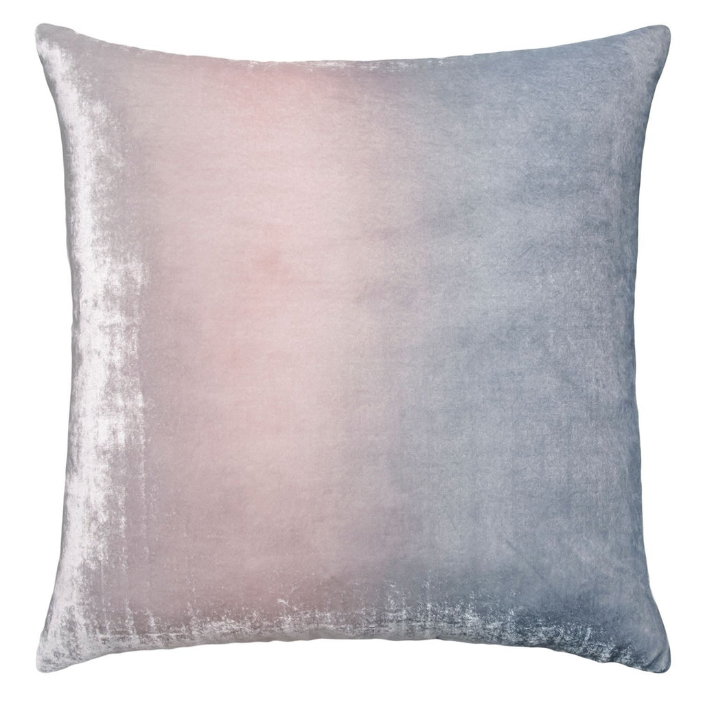 Moonstone Ombre Square Velvet Pillow by Kevin O'Brien Studio | Fig Linens