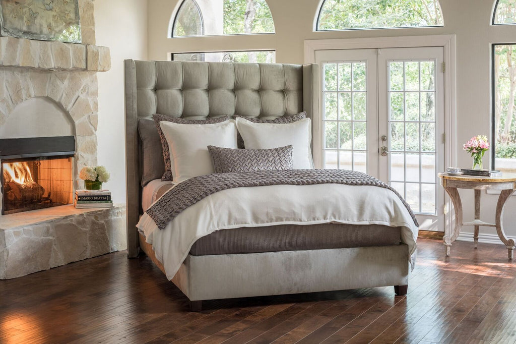 lili alessandra at Fig Linens - Gia Ivory Bedding