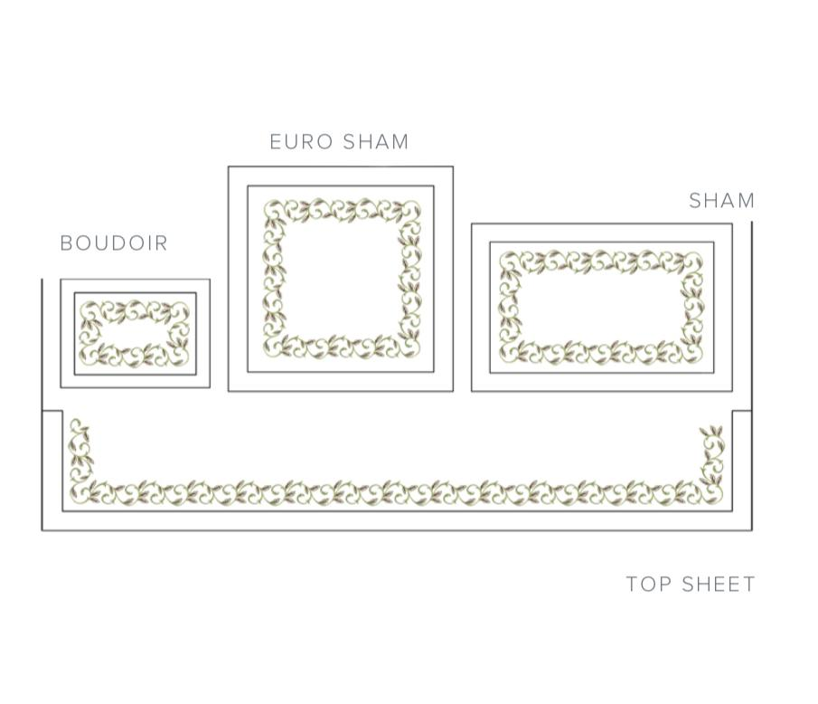 Fig Linens - Marina Embroidered Shams and sheets by Dea Fine Linens
