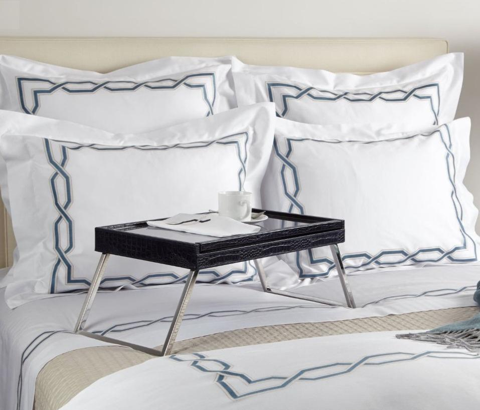 Marrakesh Embroidery Bedding by Dea Fine Linens | Fig Linens