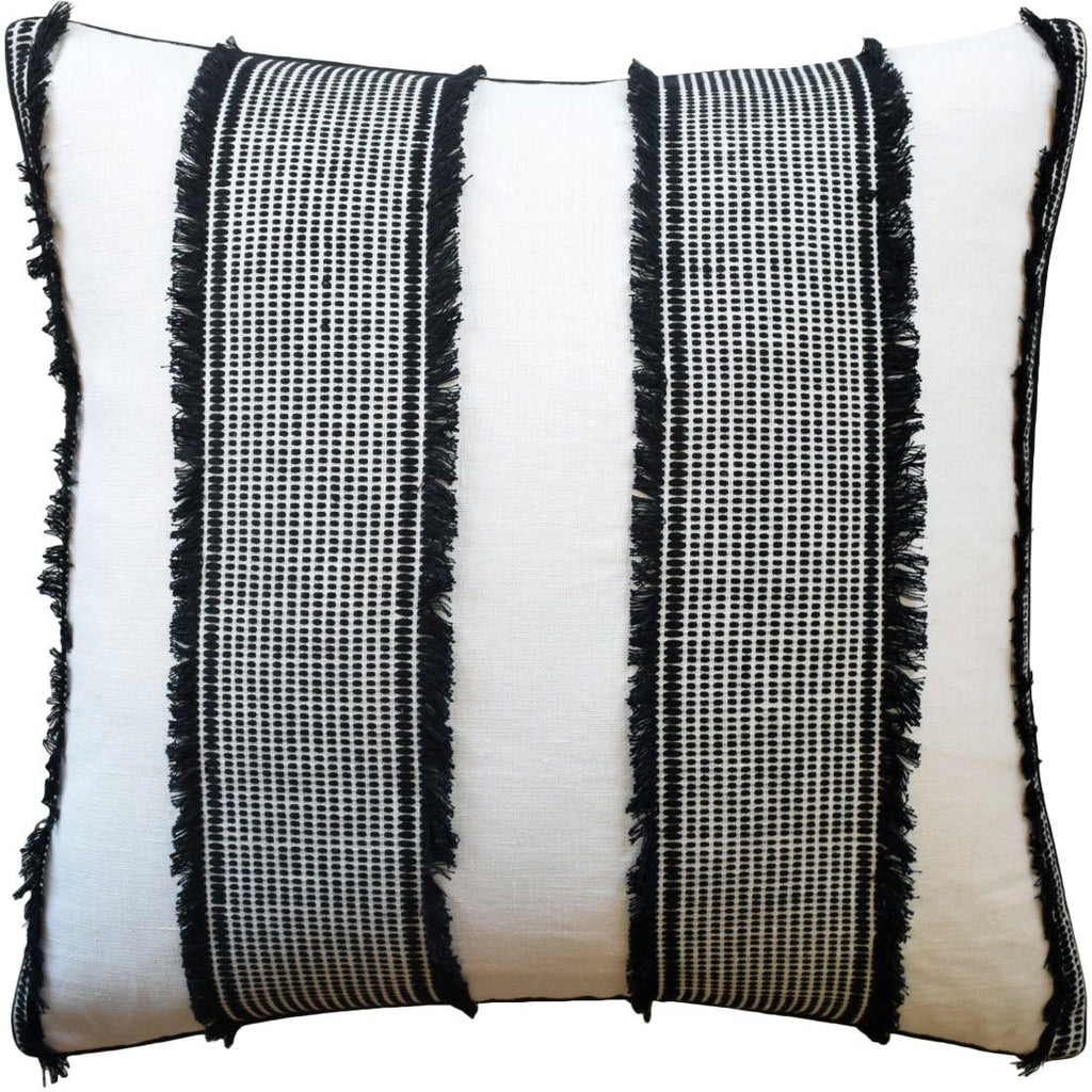 Tulum Black Throw Pillow | Ryan Studio from Schumacher Fabric