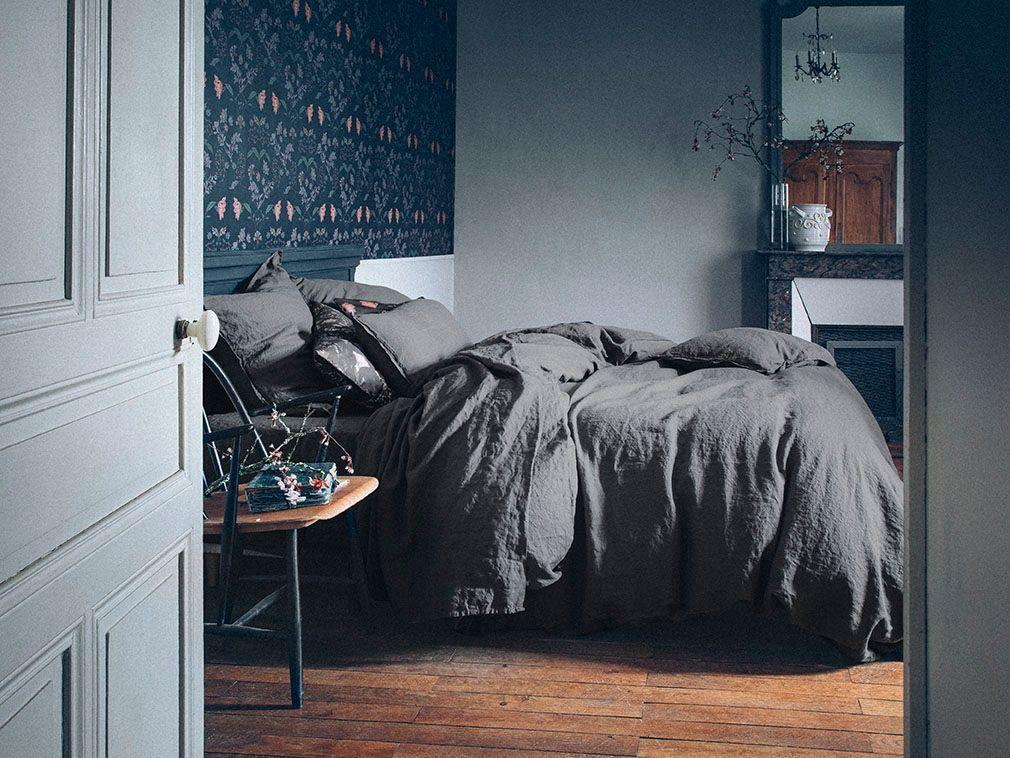 Fig Linens - Alexandre Turpault Beddiing - Nouvelle Vague Stone Grey Bedding