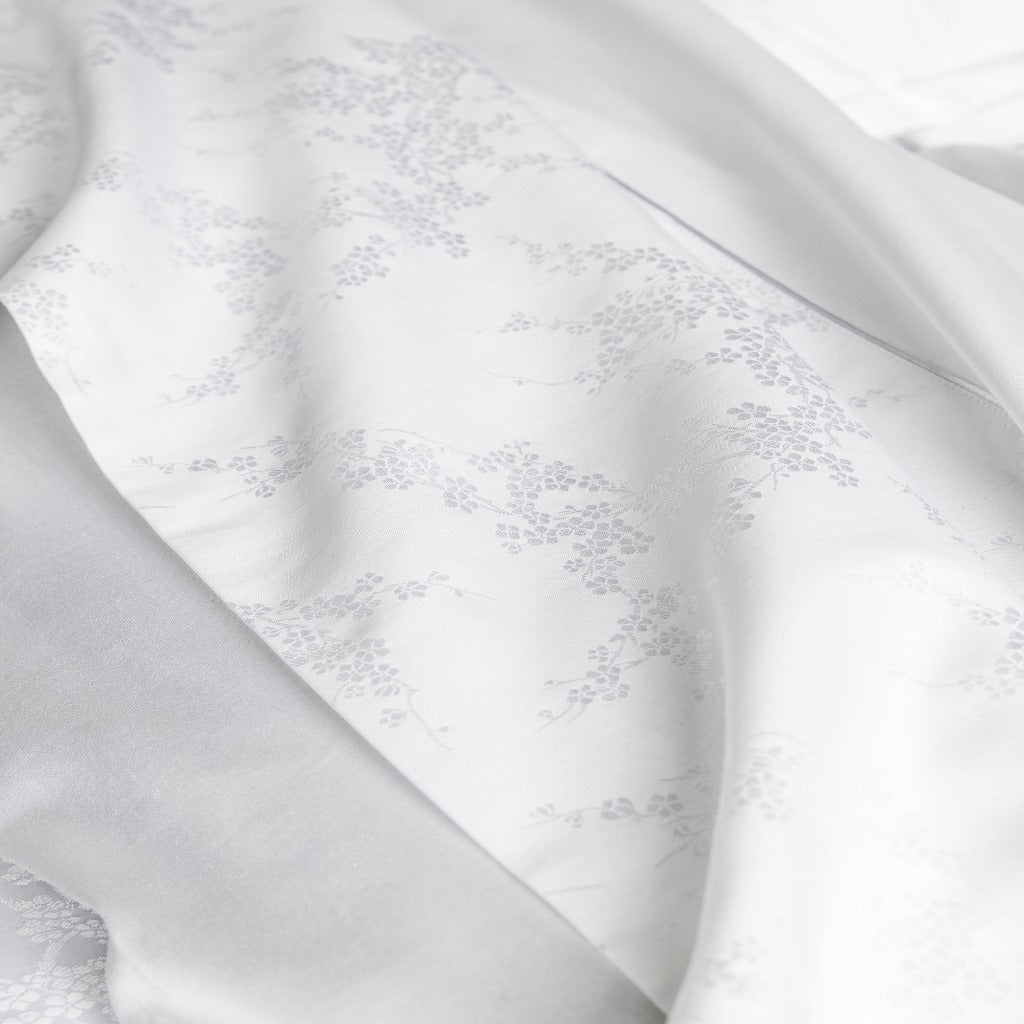 Avril White Bedding with Floral Pattern by Alexandre Turpault | Fig Fine Linens and Home