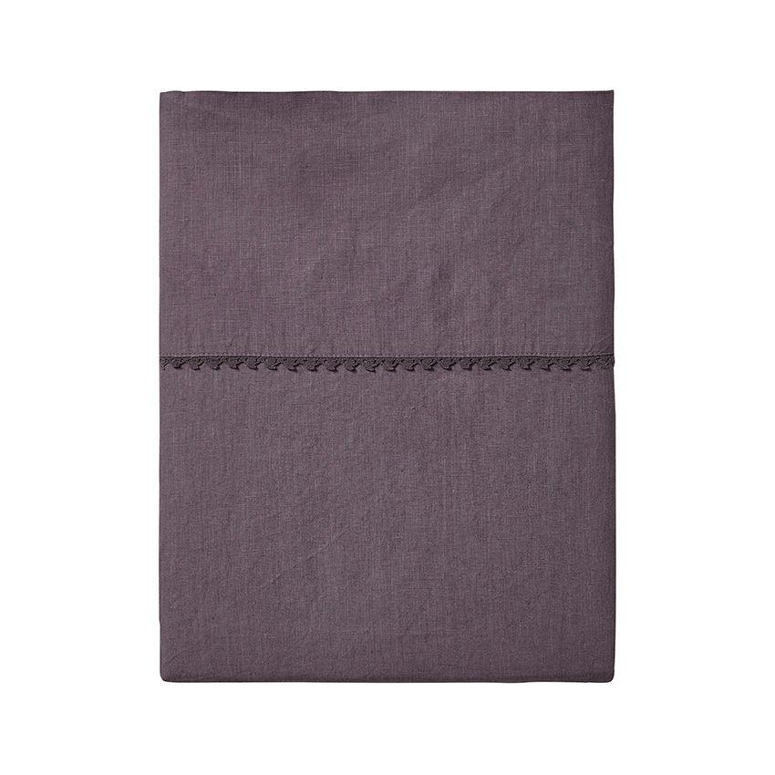 Fig Linens - Alexandre Turpault Bedding - Nouvelle Vague Purple Flat Sheet