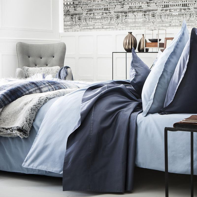 Teo Slate Blue Bedding by Alexandre Turpault
