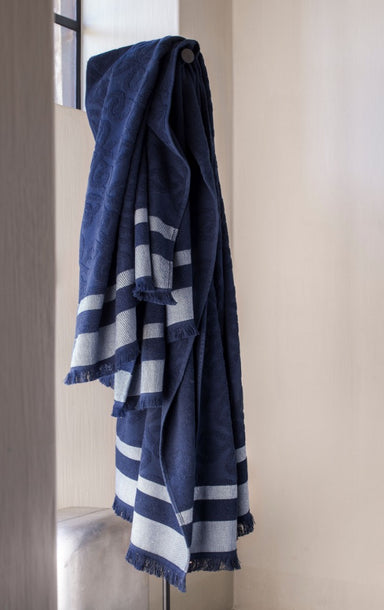 Croisiere Slate Blue Beach Towel by Alexandre Turpault | Fig Linens
