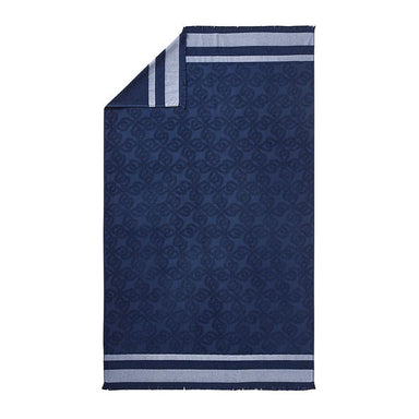 Croisiere Dark Blue Beach Towel by Alexandre Turpault | Fig Linens