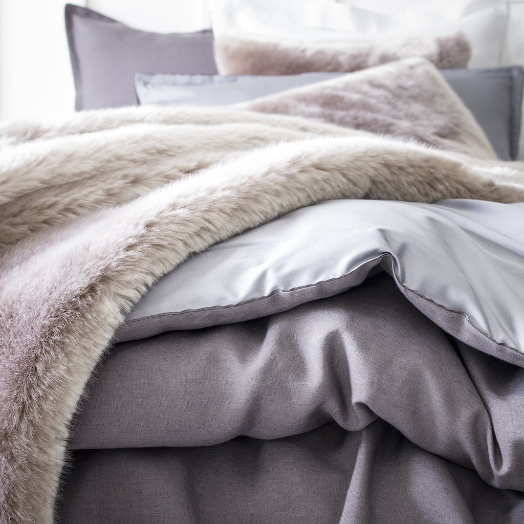 Tsarine Faux Fur Bedding Collection by Alexandre Turpault
